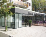 FRP75/R60 Movable Glass Door with Frame & Parking
